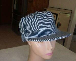 Broner Sized Railroad Engineers Hat Cap - Adult Large