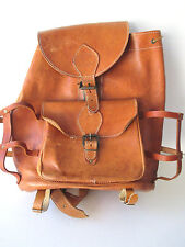 Leather Backpack Rucksack Naturally Distressed Hand Made in Greece