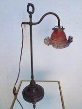 Lampe laiton tulipe pâte de verre Vianne Lampe reglabe
