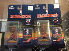 NBA Headliners Dennis Rodman Bulls Figure Lot Of 2! NIP Shelf Wear!