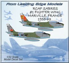 1/32 F-86 Sabre RCAF #1 Fighter Wing France model decal set by Leading Edge
