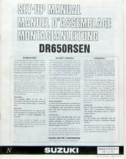 1991 MOTO SUZUKI DR 650 RSEN SET UP MANUEL D'ASSEMBLAGE MONTAGEANLEITUNG