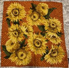 Gucci Scarf Red Yellow Sunflower Silk