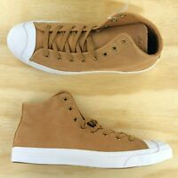 Converse Jack Purcell JP Tan Wheat Brown White Mid Top Shoes 157709C Multi Size