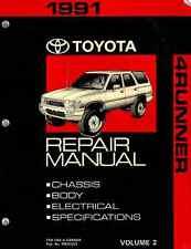 1992 Toyota 4-Runner Shop Service Repair Manual Book Engine Drivetrain OEM