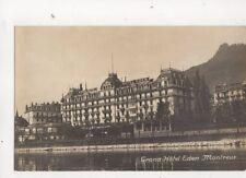 Grand Hotel Eden Montreux Switzerland Vintage RP Postcard 329b