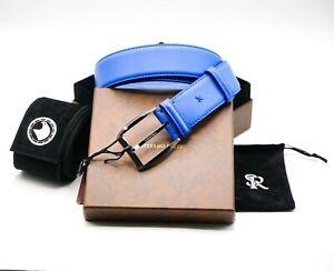 NWT STEFANO RICCI Leather Luxury BELT Buckle Logo SR Size 110 cm Us 44-45 C5