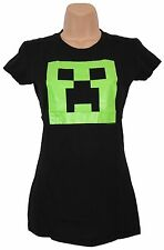 Minecraft T-Shirt Womens Small Fitted Glowing Creeper
