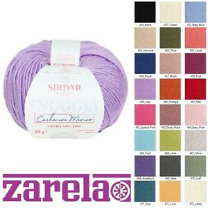 Sirdar Snuggly Cashmere Merino DK 50g *****ALL COLOURS*****