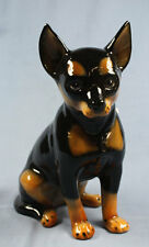 Chihuahua Pinscher Rattler hund Keramik  hundefigur lebensgroß porzellan figur t