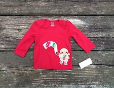 NEW Gymboree Girls Gingerbread Red Shirt Size 6-12 Months