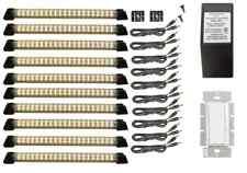 LED Hardwire Kitchen Kit, Ten Warm White Designer Series Panels, LED Dimming