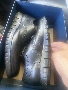 Cole Haan ZeroGrand Wingtip Leather Oxfords Black/ C20719 Men's Size 8 Mens