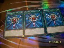 3x Monster Reborn 1st Edition Common YS18-EN024 Yu-Gi-Oh!