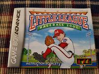 Little League Baseball 2002 - Authentic - Nintendo Game Boy Advance Manual Only!