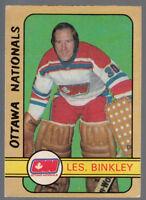 1972 73 OPC WHA O PEE CHEE HOCKEY 300 LES BINKLEY EXNM OTTAWA NATIONALS PENGUINS