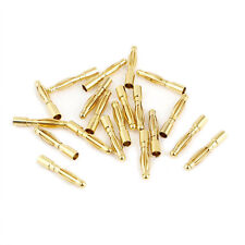 2mm Inner Dia Male Banana Plug Bullet Connector Replacement 20 Pcs LW