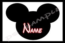 4x6 Disney Cruise Stateroom Door Magnet - MICKEY SILHOUETTE - PERSONALIZED