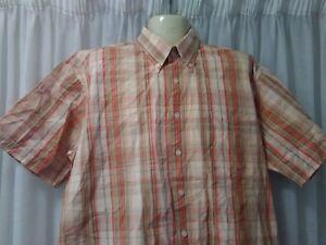 Mens Arnold Palmer Shirt, XL, Loose Fit, Short Sleeves, 100% Cotton