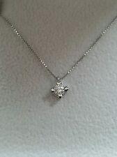 collana girocollo punto luce oro bianco 18kt diamante 0,20 ct - IDEA NATALE