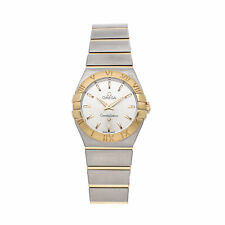 Omega Constellation Quartz Steel Gold Ladies Bracelet Watch 123.20.27.60.02.002