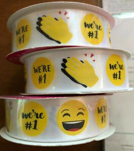 Emoji - WE'RE # 1 Ribbon - 3 packs - 7/8 in X 4 yd - Sports Team - NEW - Morex