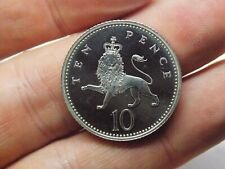 More details for 1996 solid silver 10p ten pence coin. great display piece. free uk p&p