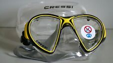 New listing Cressi Air Crystal DS 400010 Scuba Diving Mask, Black / Yellow
