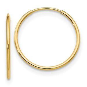 14k Madi K 1mm Hoop Earrings