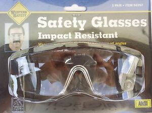 SAFETY GLASSES WRAP AROUND SIDES Clear Lens,  Adjustable Slide Frames 1 Size All