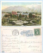 Aerial View City Park & Business Districk Odgen Utah  1922 Postcard