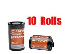 10 Rolls Foma Fomapan Retropan 320 ISO320  35mm 135-36  B&W  Film Dated 10/2018