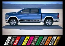 2pcs stickers Dodge RAM 1500 graphics side stripe decal sticker #25