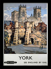 York See England By Rail - Framed 30 x 40 Official Print