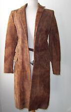 Mens CARPE DIEM MAURIZIO ALTIERI Brown Distressed Leather Coat  S