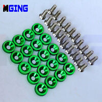 JDM  ALUMINUM BOLT ENGINE FENDER BUMPER WASHER BAY DRESS UP SCREW BILLET 20PCS
