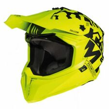 MT Falcon Karson Motorcross Offroad Motorcycle Motorbike Helmet - Yellow / Black