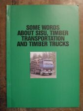 SISU Timber Trucks orig 1990 Sales Publicity Brochure in English