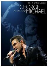 GEORGE MICHAEL 2018 LARGE UK POSTER WALL CALENDAR BY OC + FREE UK POSTAGE !!