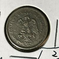 1914 Mexico 5 Centavos Coin XF Condition