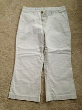 Women's Attention Size 10 Beige Mid-Rise Capri Pants