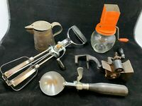 Lot of vintage antique Kitchen Raisin seeder egg beater nut grinder Ice Cream ++