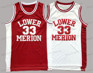Kobe Bryant #33 Lower Merion High School Basketball Jersey Stitched 2 Colors