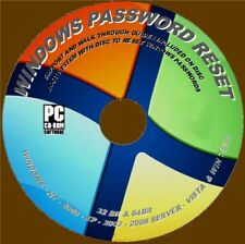 Windows Lost/forgotten Password Reset CD Win XP Vista 7 8 10 Full Instructions
