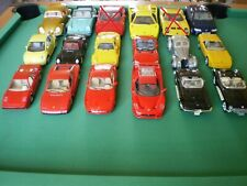 Lot 16 voitures miniatures BURAGO ANSON MAISTO MAJORETTE 1/18 1/24 1/25
