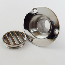 1PC Polished 316 Stainless Steel 1-1/2 Inch Deck Drain for Boat Marine Yatch