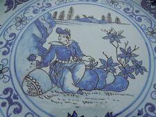 Assiette faïence Nevers Montagnon d'époque 19ème décor à l'astrée