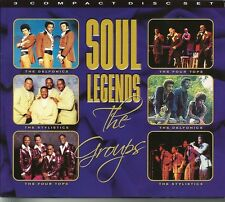 SOUL LEGENDS THE GROUPS - 3 CD BOX SET - THE FOUR TOPS & MORE