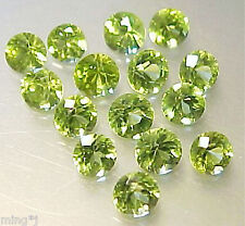 PARCEL OF 15 pieces 4 mm BRILLIANT ROUND NATURAL PERIDOT #R800