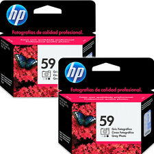 2 Pack Hp 59 Grey Photo Genuine Ink Cartridge 2014 RETAIL BOX For 245 7660 7755